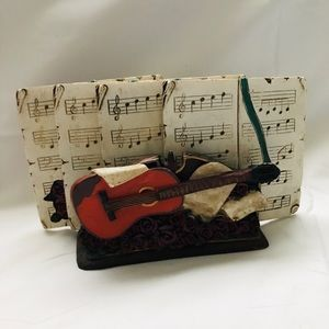 Musical notes, guitar coasters